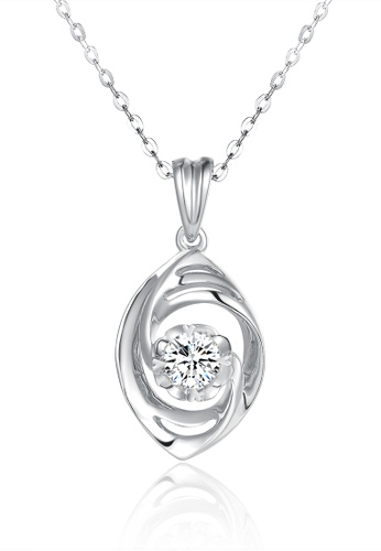 Prince Jewellery And Watch white and silver and gold 18K White Gold Diamond Marquise Pendent D4987AC2CEDBC4GS_1