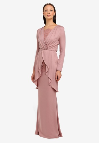 Lorna Kurung Modern from NH by NURITA HARITH in Pink