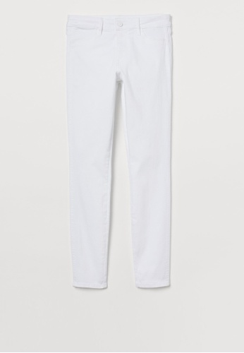 H&M white Skinny Jeans B4FFDAA8FE0255GS_1