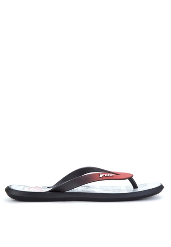 Rider black and grey and red R1 Energy AD Flip Flops RI584SH74OZPPH_1