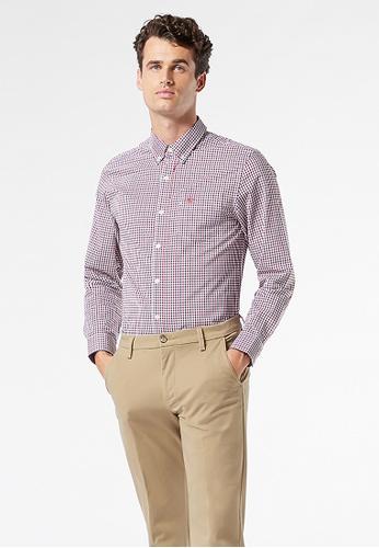 Dockers red Dockers Signature Comfort Flex Button-Down Shirt Men 52661-0032 CB00DAA4B62CAAGS_1