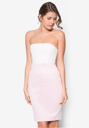 雙色平口洋裝zalora 手錶 評價, 服飾, 緊身洋裝