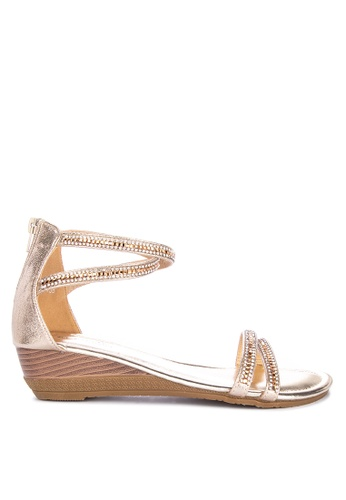 a10a08c14bf9 Shop Mnicole Strappy Wedge Sandals Online on ZALORA Philippines