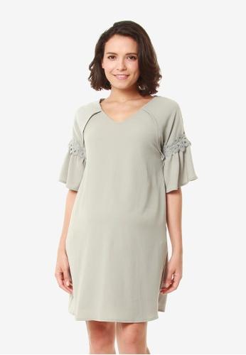 Bove by Spring Maternity grey Evalyn Dress Grey D7115AAF2A0EFBGS_1