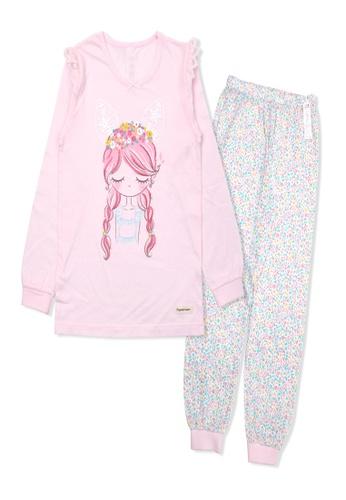 Organic mom pink Organic Cotton Alice Girl Lightweight Long Sleeves Pjs 6C992KACA6AE36GS_1