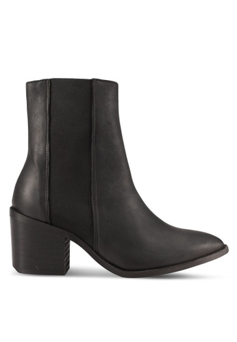 Selected Femme black Elena High Shafted Leather Boots SE157SH0S405MY_1