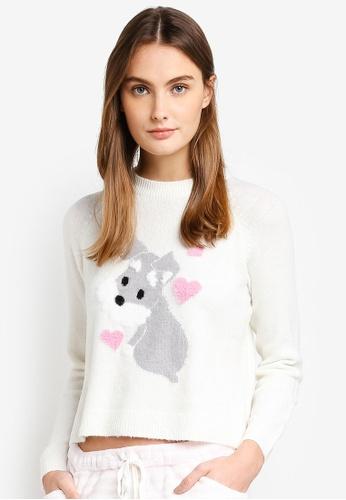 6IXTY8IGHT white Schnauzer Knit Sweater 88A79AAF21F1C9GS_1