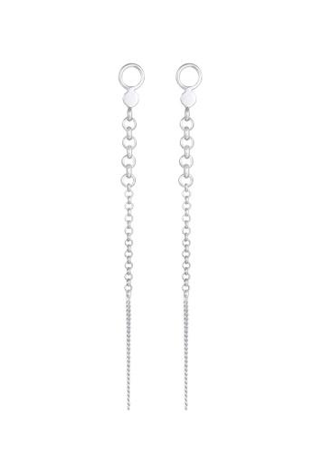 ELLI GERMANY silver Plug Pea Chain Plates Earrings A4E36AC9C7EA34GS_1