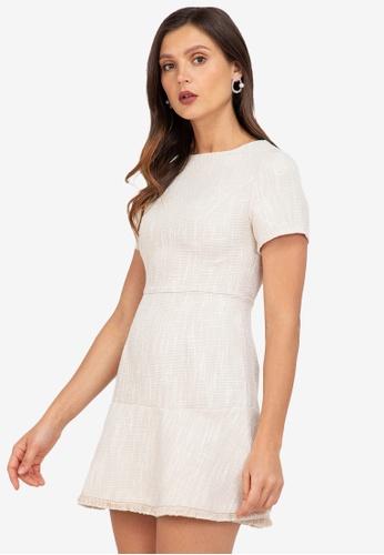 ZALORA WORK multi Fluted Hem Tweed Dress 797FAAA55CE65EGS_1