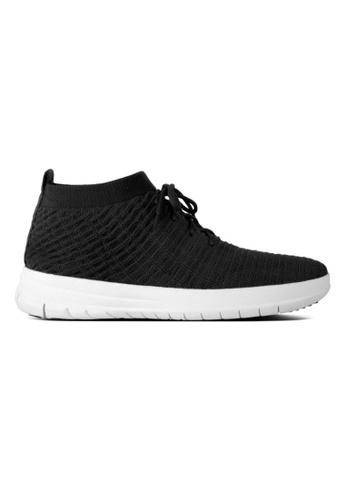FitFlop black Fitflop Uberknit Slip On High Top Sneaker In Waffle Black 9C92BSHA78D9B7GS_1