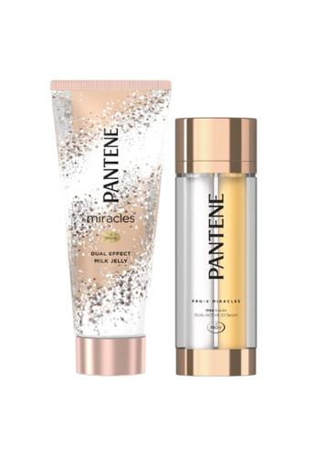 Pantene [Bundle of 2] Pantene Miracles Dual Milk Jelly 200g + Pantene Miracles Vita Fusion Dual-Active Oil Serum 42g C2C17ES11A429FGS_1