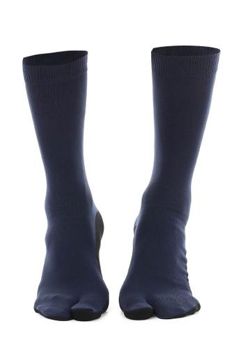 Hamlin navy Hamlin Nercyla Kaos Kaki Wanita Toe Socks Two Tone Casual Footwear Material Spandex ORIGINAL AA87DAA1D7DF00GS_1