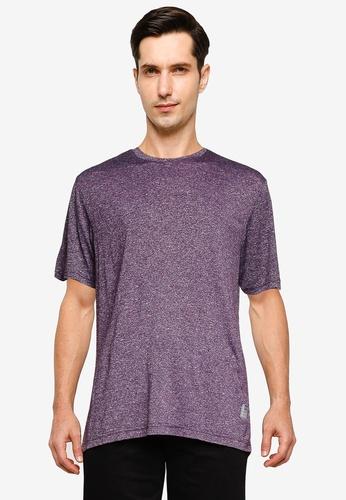 UniqTee 紫色 Slim 圓領T恤 F3949AAD1A1E4BGS_1