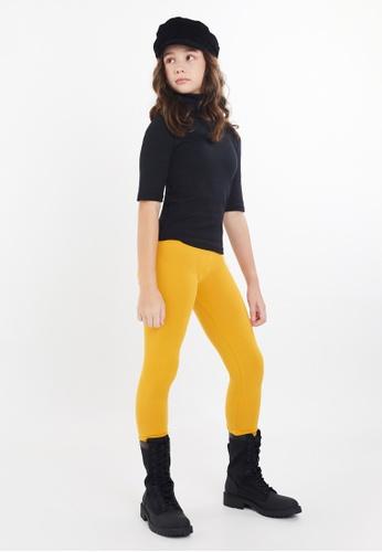 Gen Woo yellow Basic Legging by Gen Woo 693B1KA53CF7DCGS_1