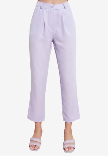 Trendyol purple Pleated Ankle Length Pants 7E9DAAA96D1182GS_1
