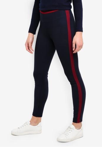 ESPRIT navy Regular Knitted Pants 22970AAD23452BGS_1