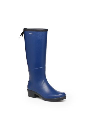 Aigle blue Miss Juliette A Rubber Boots 71C0FSH7424A23GS_1