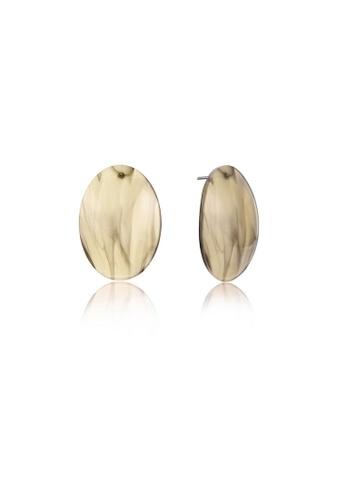 Urban Outlier beige Oval Shape Disc Earrings 1035AAC817C222GS_1