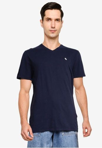 Abercrombie & Fitch navy Short Sleeve Icon Tee A74CEAAF3F99E9GS_1