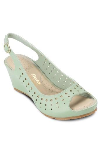 esprit home 台灣CACA 魚口露趾楔型涼鞋, 女鞋, 鞋