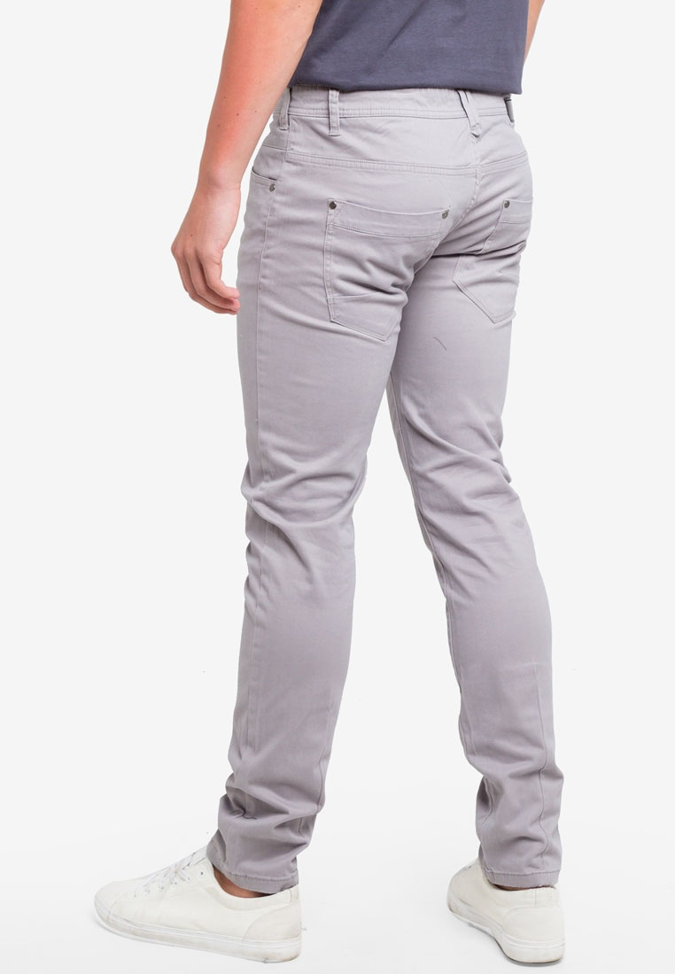 Stretch Satin OVS Trousers Slim Sharkskin Fit TEqf55w