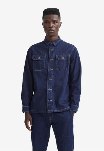 Selected Homme blue Flynn Hemp Overshirt E9C75AA45A2173GS_1