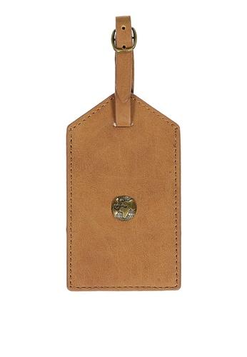 Typo brown Luggage Tag EA9A5ACBEEA76BGS_1
