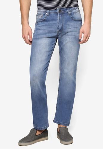 水esprit outlet洗摺痕休閒牛仔褲, 服飾, 服飾