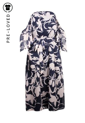 Talulah blue Pre-Loved talulah printed off-shoulder dress DB940AAC354479GS_1