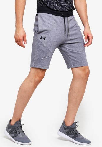 Under Armour grey Unstoppable 2X Knit Shorts 1743BAAC0B51B9GS_1