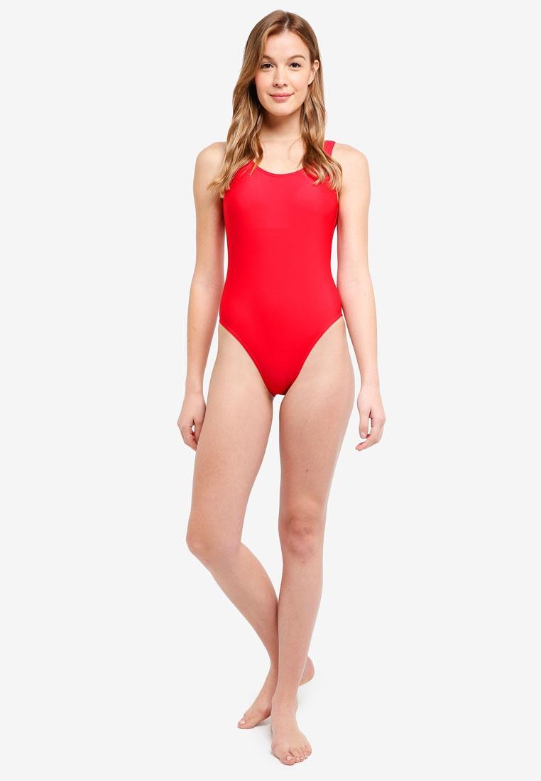 Malibu Piece Cabana Beachwear Swimsuit Red One RqROgr6