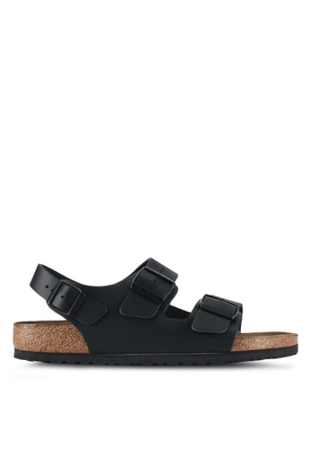 Birkenstock 黑色 Milano Smooth Leather Sandals 5CF4CSH18661DFGS_1