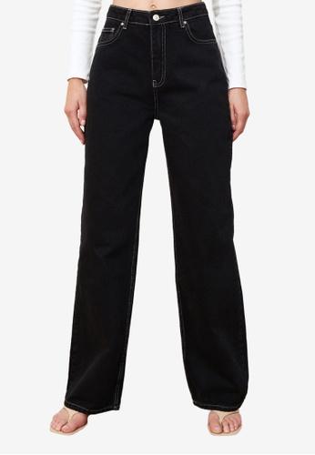 Trendyol black High Waist Wide Leg Jeans 21381AAA157AD9GS_1