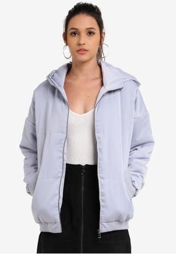 Something Borrowed grey Puffa Jacket 71B73AA6B918F0GS_1