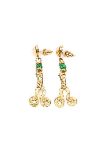 Silverworks green North Node Stud Earrings SI696AC50OANPH_1
