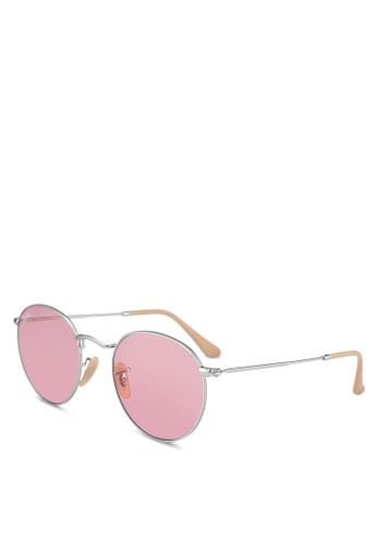 94dff3ef9 Buy Ray-Ban Round Metal RB3447 Sunglasses | ZALORA HK