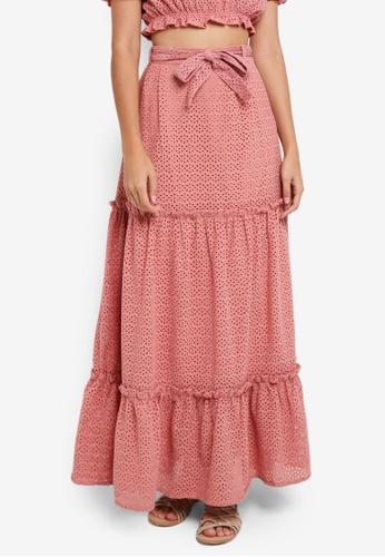 Vero Moda pink Anna Maxi Skirt 8DA21AAF2FE9EBGS_1