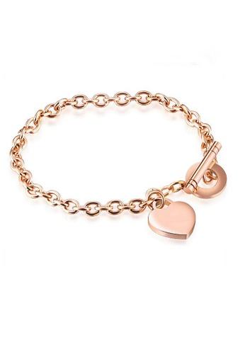 ADORA gold Stainless Steel Heart Bracelet E682DACAF2F6C4GS_1