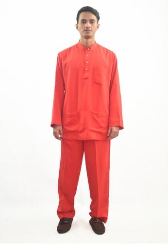Denai Boutique red Baju Melayu Atta 7F240AAC7E5C6DGS_1