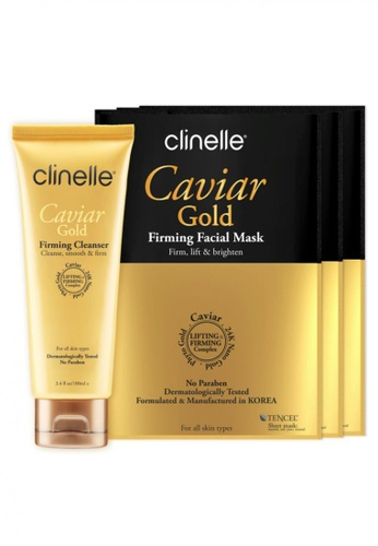 Clinelle Skin Care: Clinelle [Official] CaviarGold Firming Cleanser (100ml) + CaviarGold Firming Mask (3 sheets x 25ml) CL708BE31EYAMY_1