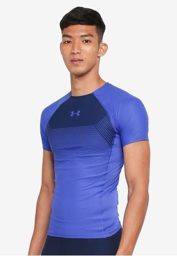 Under Armour blue Threadborne Vanish SS Compression T-Shirt UN337AA0SU8MMY 1 294c1cffc4