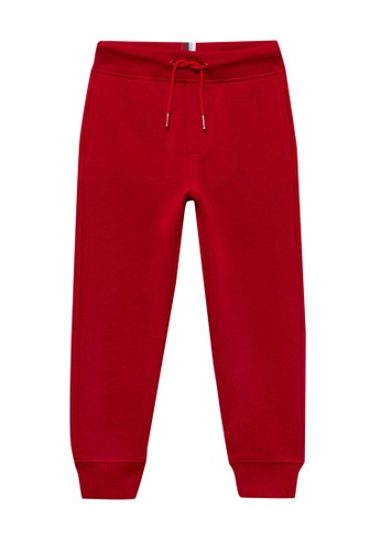 OVS red French Terry Pockets Joggers B828FKAF4A7AE3GS_1
