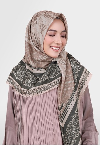 Authentism.id brown and bronze Exclusive Scarf Collection - Minara Series - Jayna 83BF3AADE8AA51GS_1
