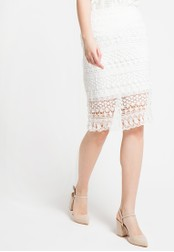 EDITION white Lace Pencil Skirt ED101AA19DVGID_1