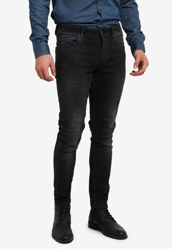 !Solid black Dexter Skinny Stretch Italian Denim Jeans SO701AA0S2VKMY_1