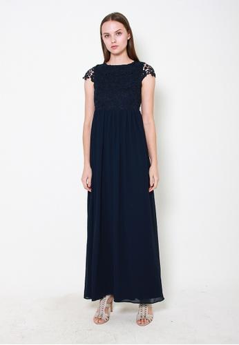 Leline Style blue Myla Crotchet Maxi Dress 98832AA196EB36GS_1