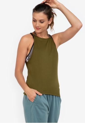 ZALORA ACTIVE green Loose Fit Training Tank Top C6FBCAA0A5AFC2GS_1