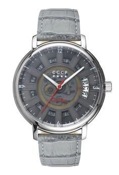 70c999d86 CCCP grey CCCP Men s Grey Genuine Leather Watch - CP-7037-04  92184AC254DAF5GS 1