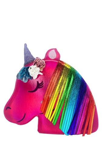 Adkidz pink Adkidz Holographic Unicorn Crossbody bag 08B8EKC75F9DC4GS_1