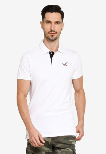 Hollister white Core Exploded Icon Polo Shirt 28879AAA85B90BGS_1